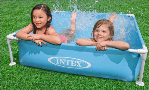 305cm 76cm INTEX blue AGP above ground swimming pool family pool inflatable pool for adults kids child aqua summer water - Your Ego Goods