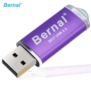 Bernal USB Flash Drive 256GB 16gb 32gb 64gb flash memory Metal Pendrive High Speed USB 2.0 Flash Drive with Key Ring Stick - Your Ego Goods