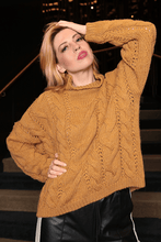 Load image into Gallery viewer, U.MAY Alice Cable Knit Jumper Mustard