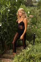 Load image into Gallery viewer, U.MAY Ariel Lace Catsuit Black
