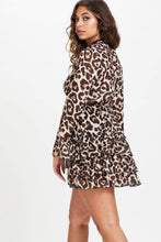Load image into Gallery viewer, U.MAY Bliss Leopard Frill Dress