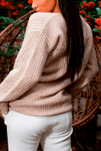 Load image into Gallery viewer, U.MAY Julie Chunky Knit Jumper Beige