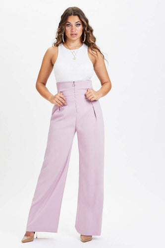 U.MAY Melissa Wide Leg Trouser Lilac