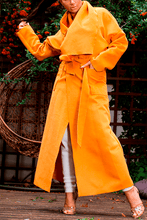 Load image into Gallery viewer, U.MAY Olivia Tie Overcoat Mustard