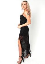 Load image into Gallery viewer, U.MAY Paige Star Mesh Maxi Dress