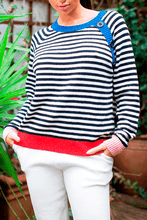 Load image into Gallery viewer, U.MAY Piper Stripe Colour Block Jumper