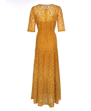 Load image into Gallery viewer, U.MAY Reagan Lace Maxi Dress Mustard