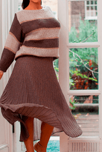 Load image into Gallery viewer, U.MAY Sadie Stripe Jumper Khaki and Grey