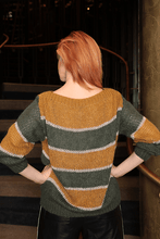 Load image into Gallery viewer, U.MAY Sadie Stripe Jumper Mustard and Khaki