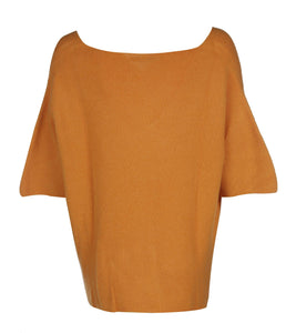 U.MAY Savannah V Neck Jumper Mustard