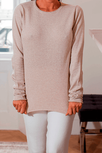 U.MAY YARA THIN KNIT JUMPER CREAM