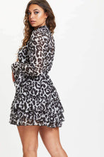 Load image into Gallery viewer, U.MAY2019 Bliss Snow Leopard Frill Dress