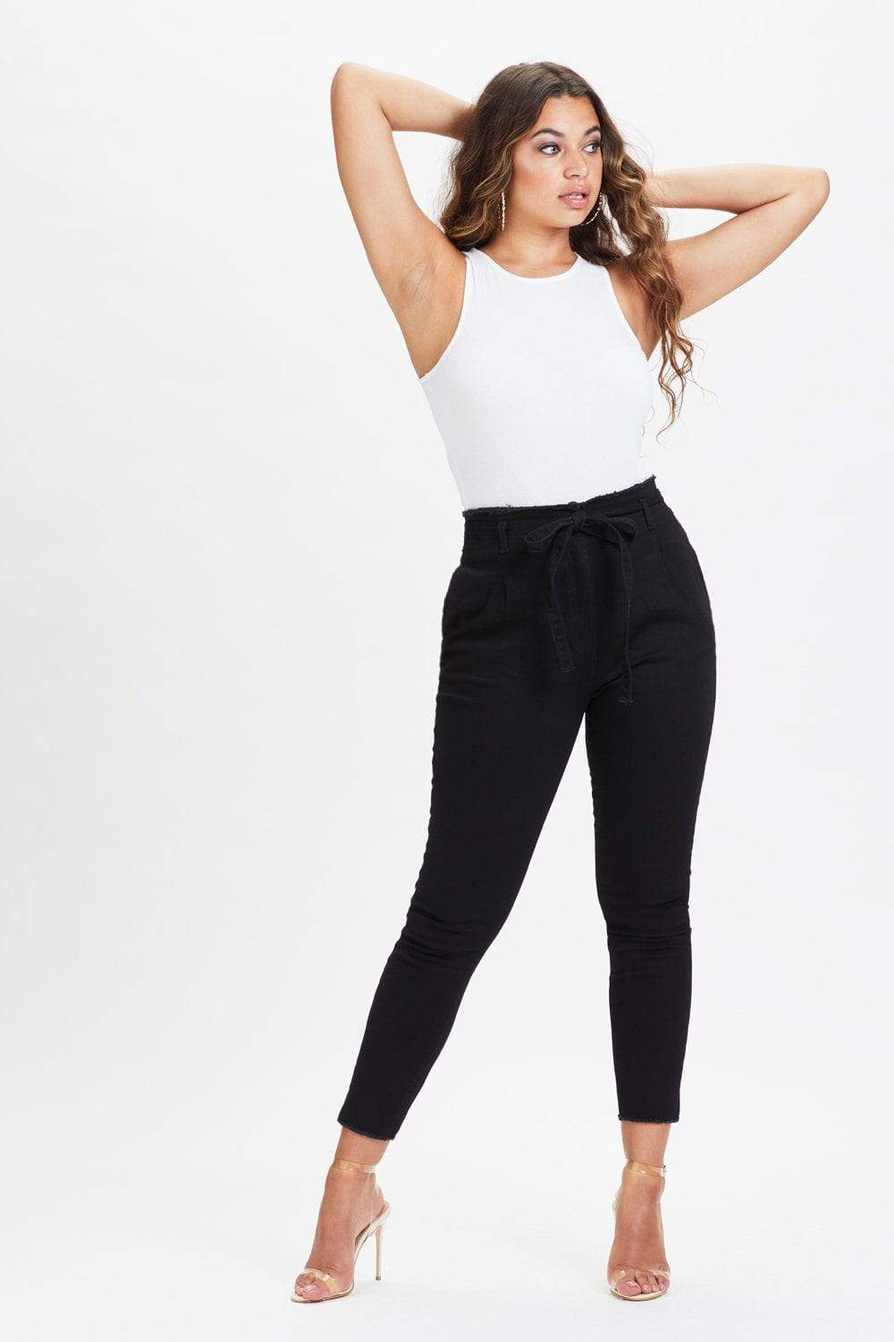 U.MAY2019 Claire High Waisted Black Jean