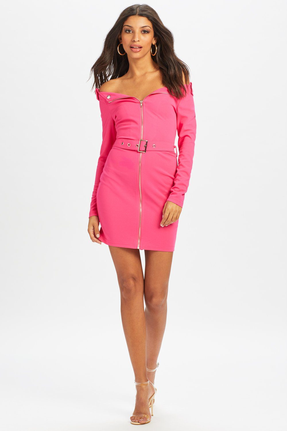 U.MAY2019 Demi Biker Mini Dress Pink