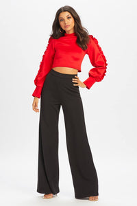 U.MAY2019 Ella Wide Leg Trouser Black