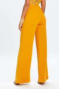 U.MAY2019 Ella Wide Leg Trouser Mustard