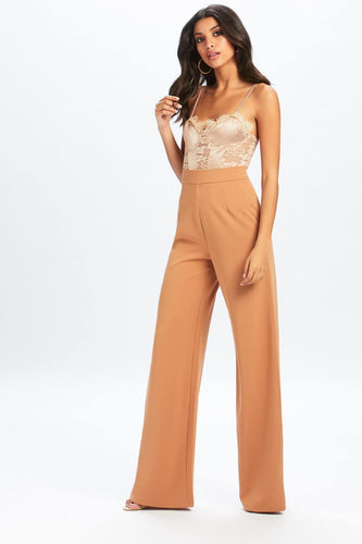 U.MAY2019 Ella Wide Leg Trouser Nude