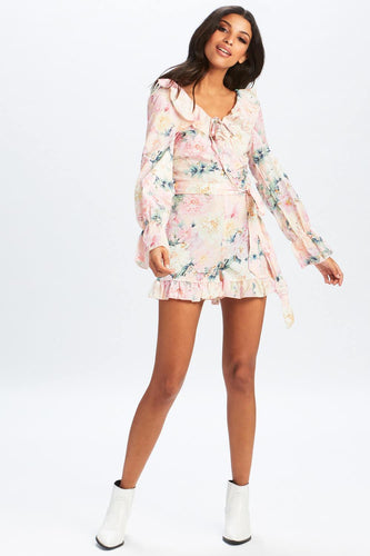 U.MAY2019 Kennedy Floral Playsuit Pink