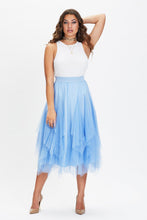 Load image into Gallery viewer, U.MAY2019 Nadia Tulle Midi Skirt Baby Blue
