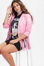 Load image into Gallery viewer, U.MAY2019 Rosie Fringe Leather Jacket Pink