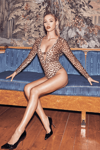 U.MAY2019 Scarlett Bodysuit Leopard