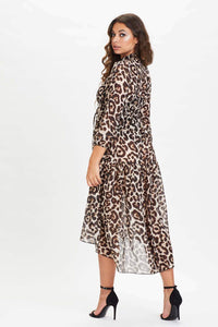 U.MAY2019 Sherene Maxi Dress Leopard