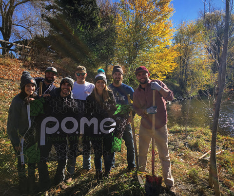 pome team, plant trees, be green, sustainability