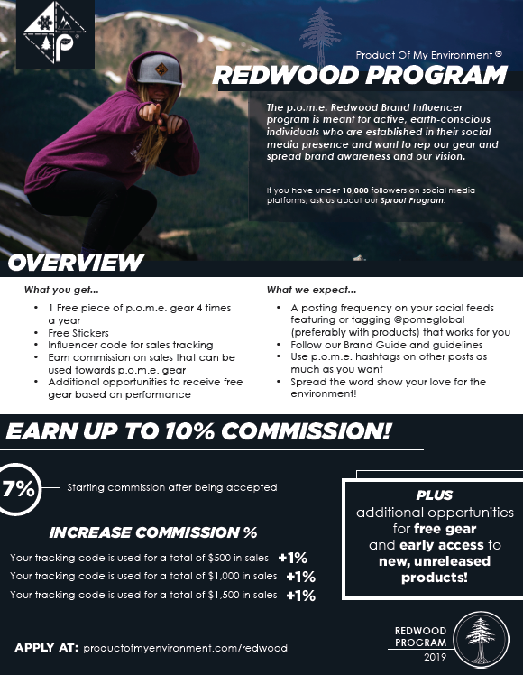 p.o.m.e. Brand Influencer Redwood Program