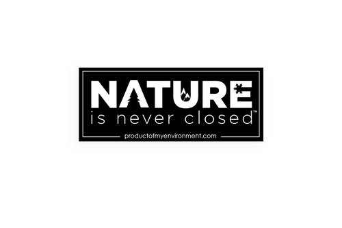 Nature is Never Closed™ Sticker