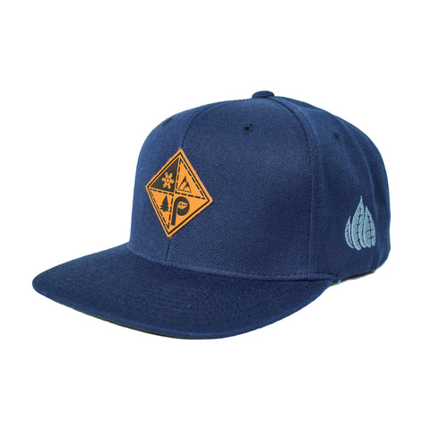 Navy Patch Snapback Hat