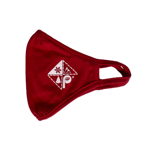 Red Logo Print Eco-Face Mask