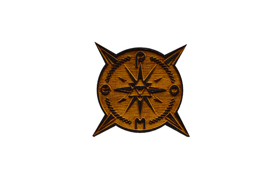 Wood Compass Pin