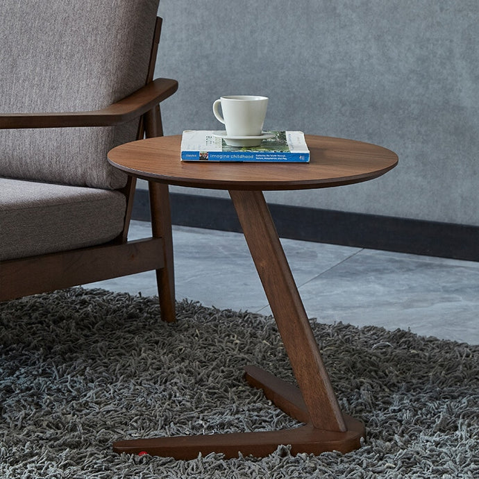 This simple yet modern design fits perfectly into small spaces and still offers plenty of table top space.