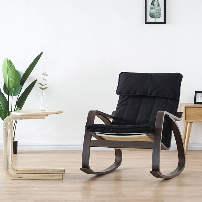 Modern rocking chair. Whether you work in a small den or the biggest corner office, it's important to make the most of your space with the right furniture. Furniture that's functional will not only boost your productivity but also enhance your mood.