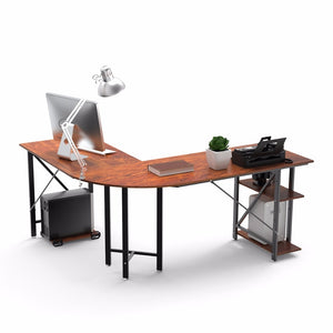 Create an office with a desk that is stylish and functional. This large corner desk offers plenty of room to spread out papers or other office essentials!