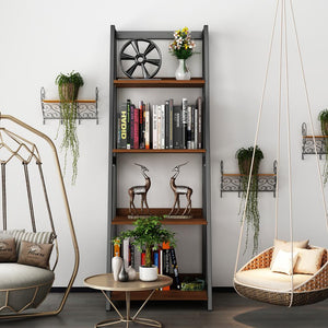 Introduce storage to style with a trendy bookshelf! This piece of furniture makes a bold design statement & evokes an art like feel. The wide shelves offer plenty of space to show off personal photos and decor or even hold your office essentials!