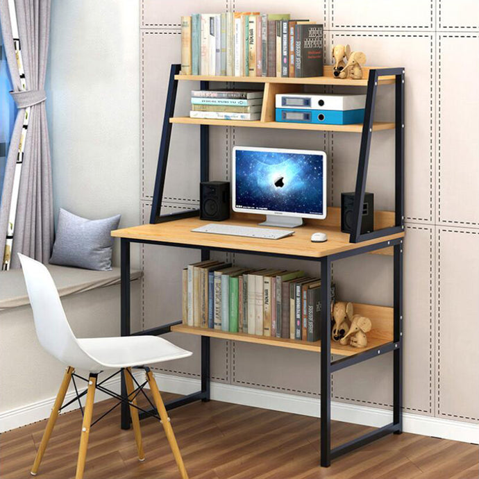 Create a home office with a desk that is stylish and functional. This desk offers plenty of room to spread out papers or other office essentials and still fits perfectly into smaller spaces! Functional and stylish it offers plenty of space for office essentials or you can add a personal touch with photos and decor!