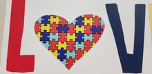 Load image into Gallery viewer, Autism sign, Autism love, Autism Decor, Autism