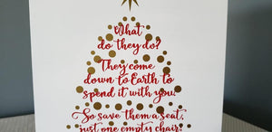 Christmas in Heaven what would they do?, Missing loved one at Christmas, Christmas sign