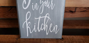 Life is short Dance in your kitchen, kitchen sign, kitchen decor, housewarming gift