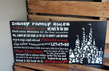 Load image into Gallery viewer, Disney Family Rules, Disney Decor, Disney sign, Disney gift