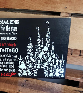 Disney Family Rules, Disney Decor, Disney sign, Disney gift