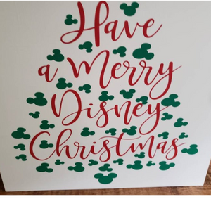 Have a Merry Disney Christmas, Disney Christmas sign, wood sign