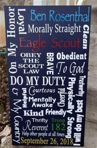 Eagle Scout sign, Boy Scouts, recognition plaque, Custom, one of a kind Eagle Scout Sign