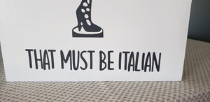 Fra-gee-lay, That must be Italian, Leg Lamp, wood sign, A Christmas movie sign