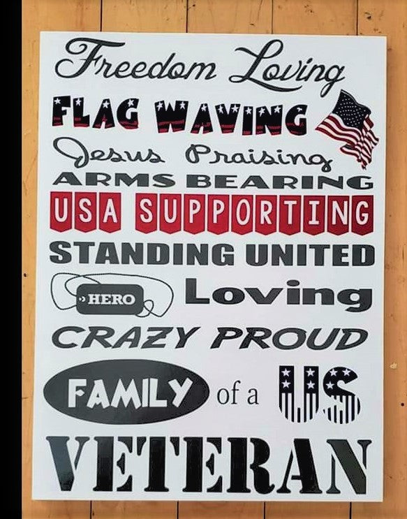 American Vet Sign, USA, American flag, Freedom loving, Crazy Proud American