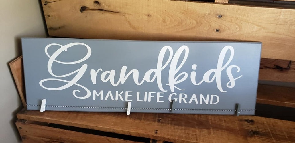 Grandkids make life grand, picture holder for grandchildren