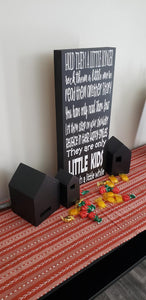 Hold them a little longer, box sign, kids bedroom sign, family picture gallery