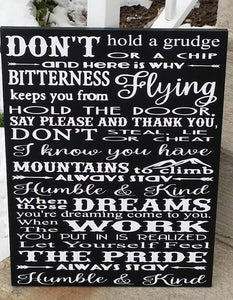 Always stay humble and kind, wood sign