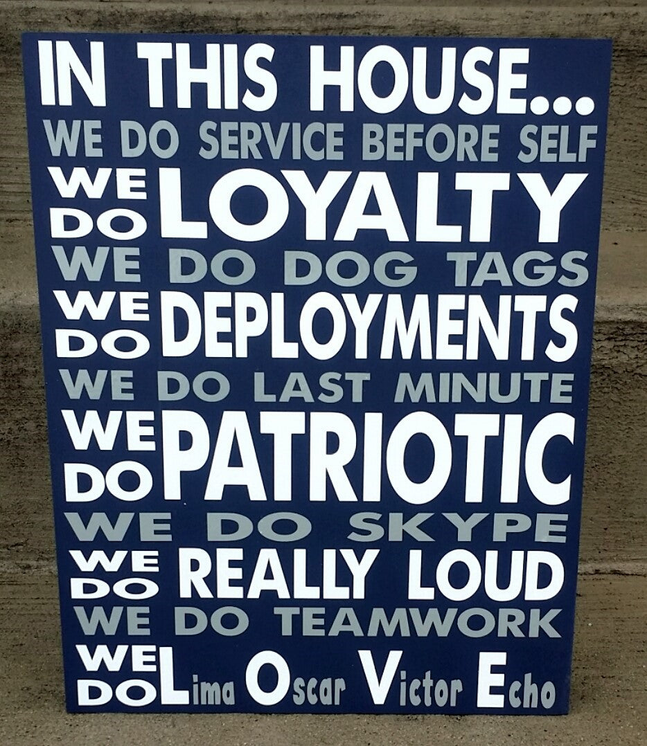 In This House We are a Military Family, Military Service, patriotic, U.S.A. Love